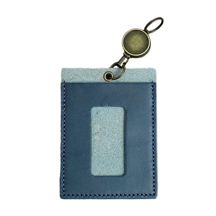 高品質 安心の日本製本革 栃木レザー[ジーンズ]リール付きパスケース 定期入れ ICカード入れ 通勤に 通学に カードケースバッグチャーム バッグにつける メンズ レディース ユニセックス L-20264 9