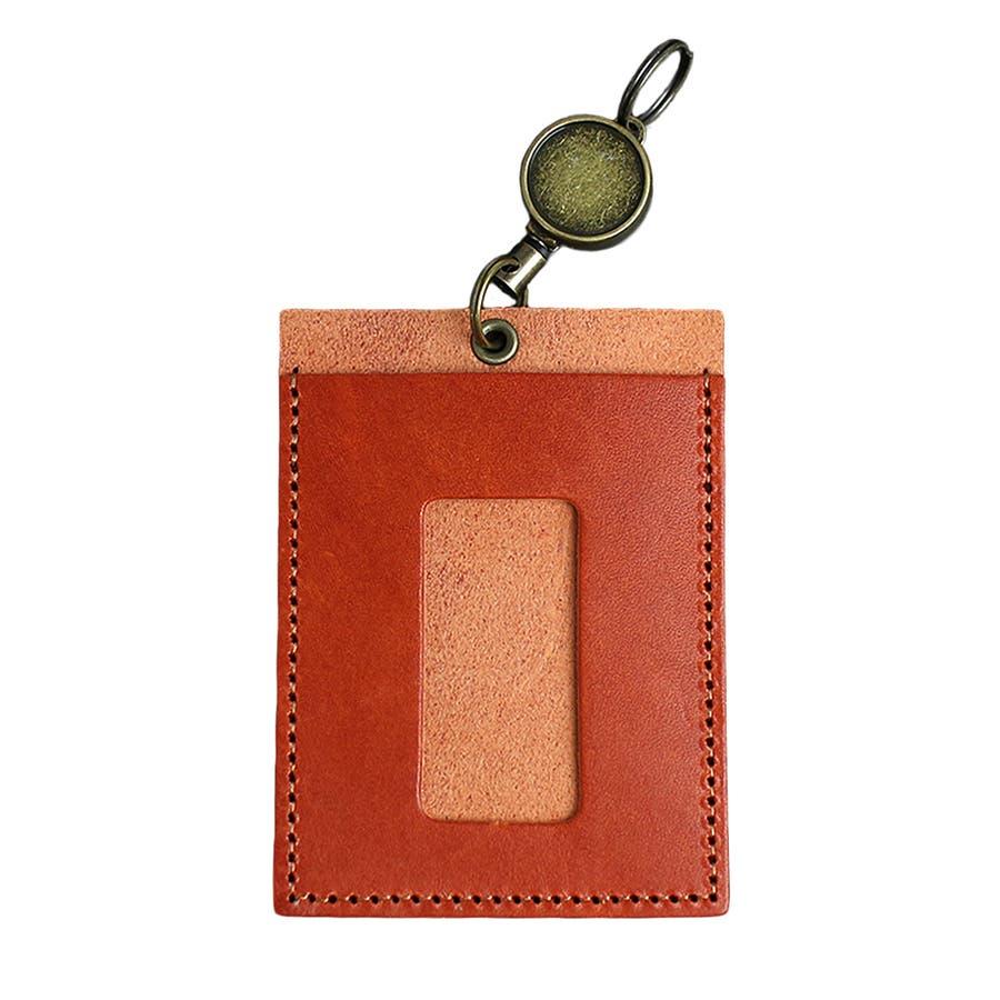 高品質 安心の日本製本革 栃木レザー[ジーンズ]リール付きパスケース 定期入れ ICカード入れ 通勤に 通学に カードケースバッグチャーム バッグにつける メンズ レディース ユニセックス L-20264 10