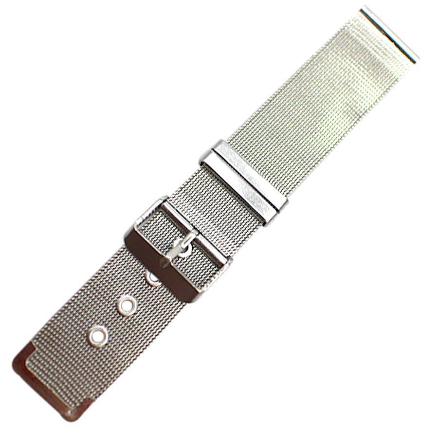 替えベルト 時計バンド 存在感抜群ステンレスメッシュ腕時計用ベルト ステンレス メッシュ 全3サイズ [16mm] [18mm][20mm] メンズ腕時計 レディース腕時計  BELT003 腕時計用ベルト 8