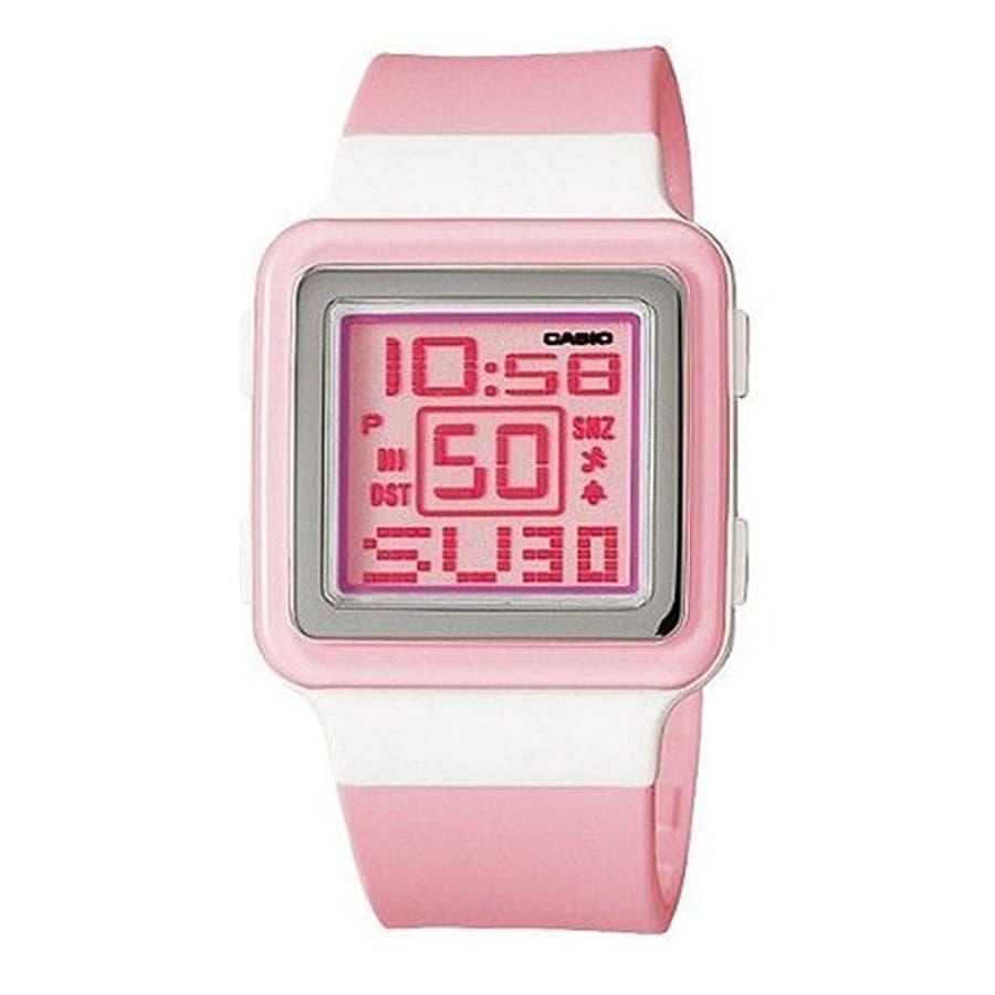d7ecbefb13 CASIO腕時計 カシオ ポップトーン デジタル表示 カレンダー LDF-20-4A チプカシ 人気モデル