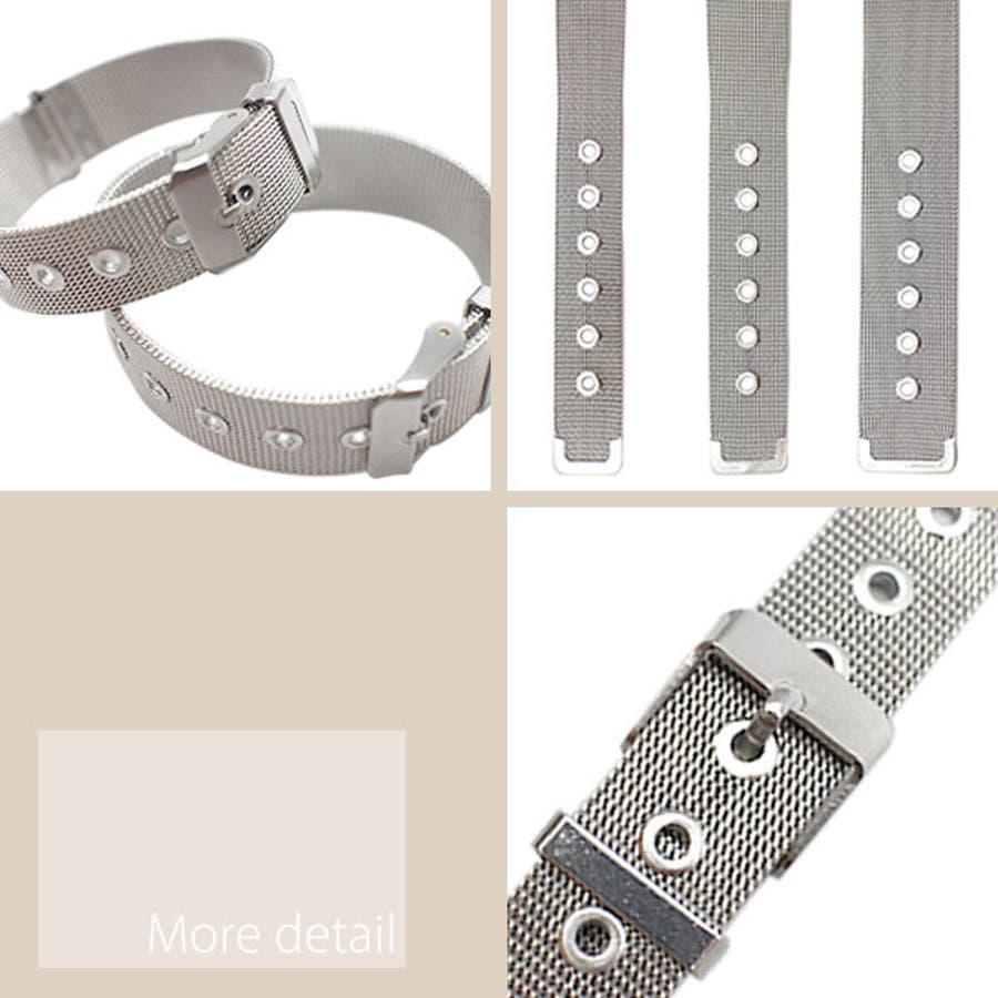 替えベルト 時計バンド 存在感抜群ステンレスメッシュ腕時計用ベルト ステンレス メッシュ 全3サイズ [16mm] [18mm][20mm] メンズ腕時計 レディース腕時計  BELT003 腕時計用ベルト 3