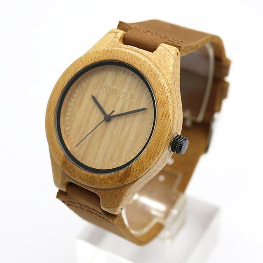 竹製 竹製時計 木製腕時計 軽い 軽量 セイコーインスツル ムーブメント 安心の天然素材 ナチュラルウッドウォッチ 自然木天然木WDW032-01 ユニセックス メンズ腕時計 3