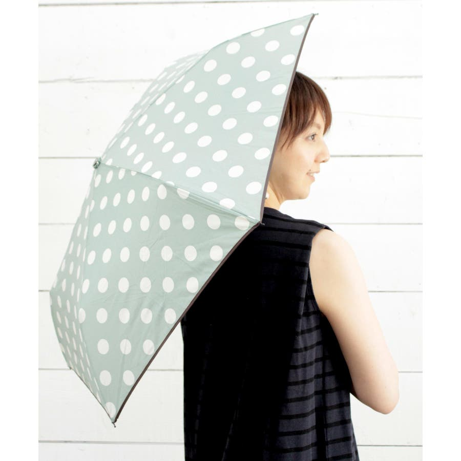 折り畳み式 コインドット柄雨傘 3