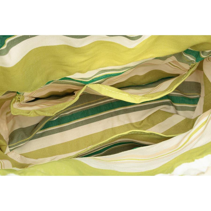 巾着 かごバッグ 浴衣 着物 和装 サマーバッグ レディース 籠 籐 夏 ナチュラル ベージュ 黄緑 ライトグリーン ストライプ和洋兼用 5