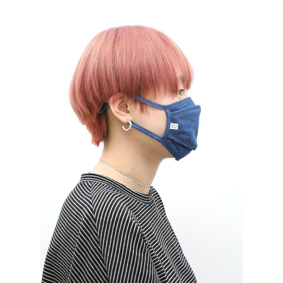 コットンデニムマスク/ファッションマスク/洗えるマスク メンズ レディース ユニセックス ブルー ネイビー シンプル コットン 綿蒸れにくい 洗える かわいい おしゃれ 通勤 通学 スピンズ spinns 4