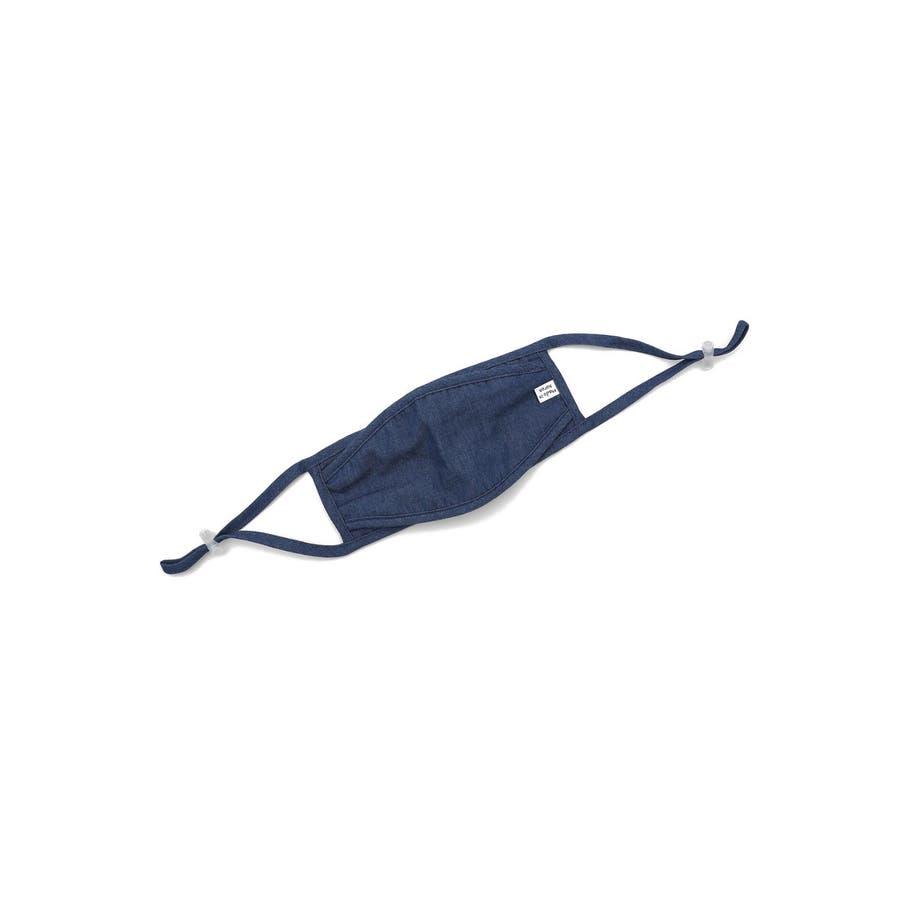 コットンデニムマスク/ファッションマスク/洗えるマスク メンズ レディース ユニセックス ブルー ネイビー シンプル コットン 綿蒸れにくい 洗える かわいい おしゃれ 通勤 通学 スピンズ spinns 5