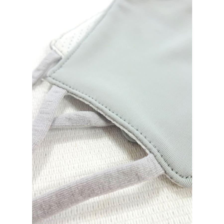 冷感マスク/夏に快適 メンズ レディース ユニセックス 涼しい ひんやり 柔らかい 洗える シンプル 夏用 ベージュ グレー ホワイト白 スピンズ spinns 2