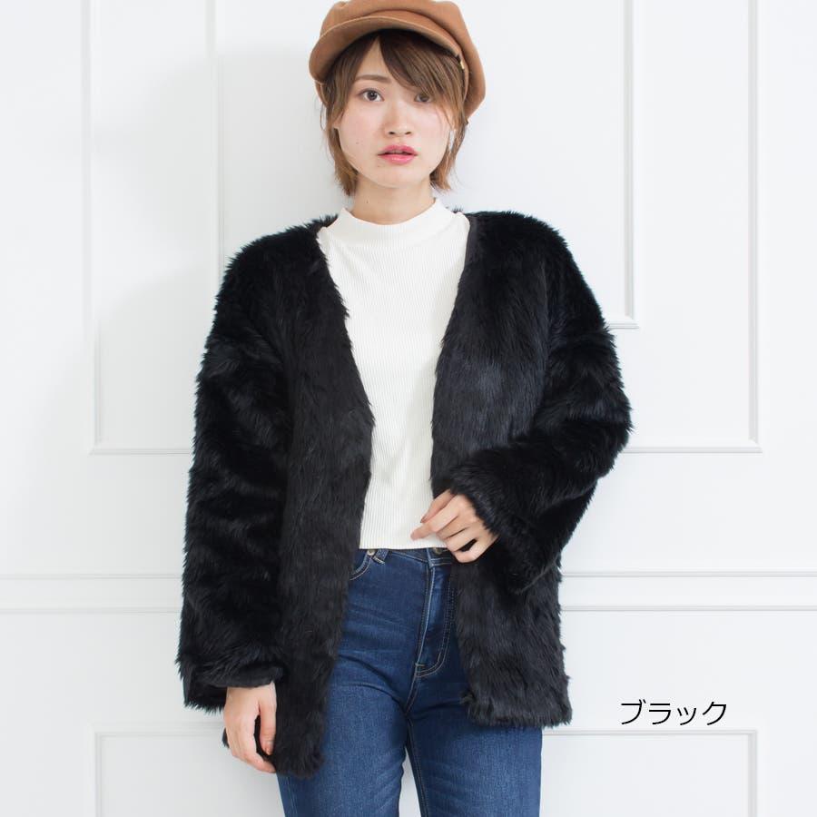 フェイクファーミドル丈コート 7