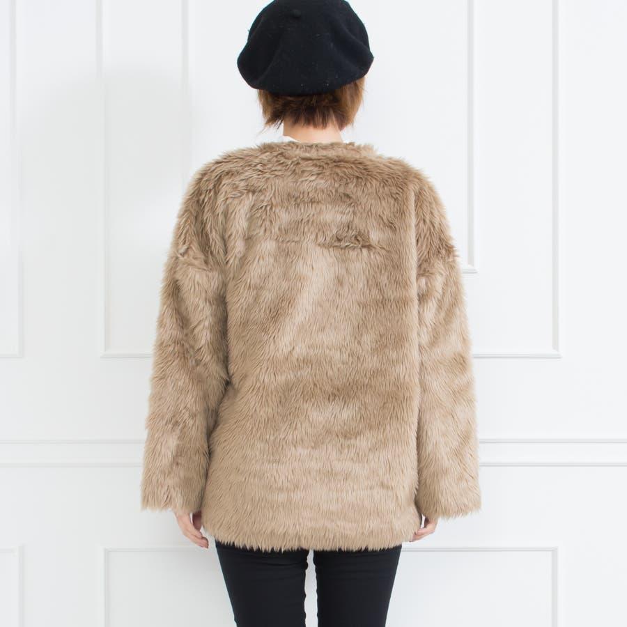 フェイクファーミドル丈コート 10
