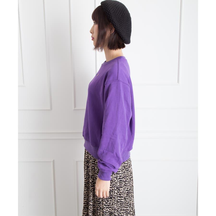 刺繍ロゴボリューム袖プルオーバー 3