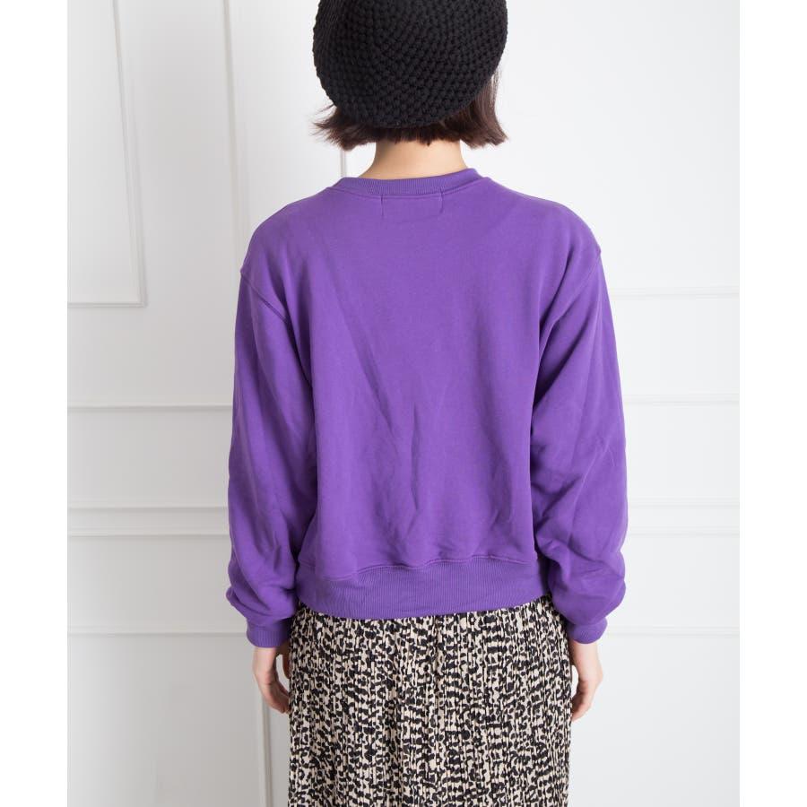 刺繍ロゴボリューム袖プルオーバー 4