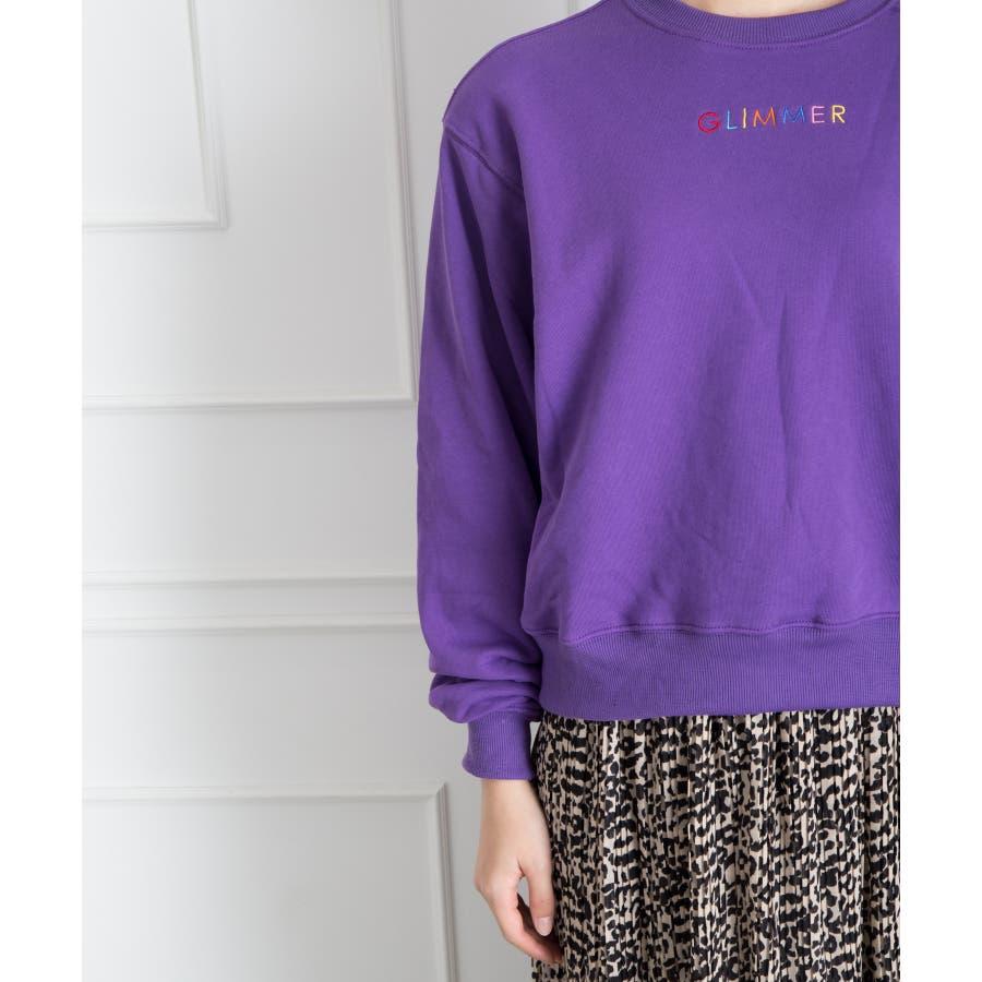 刺繍ロゴボリューム袖プルオーバー 6