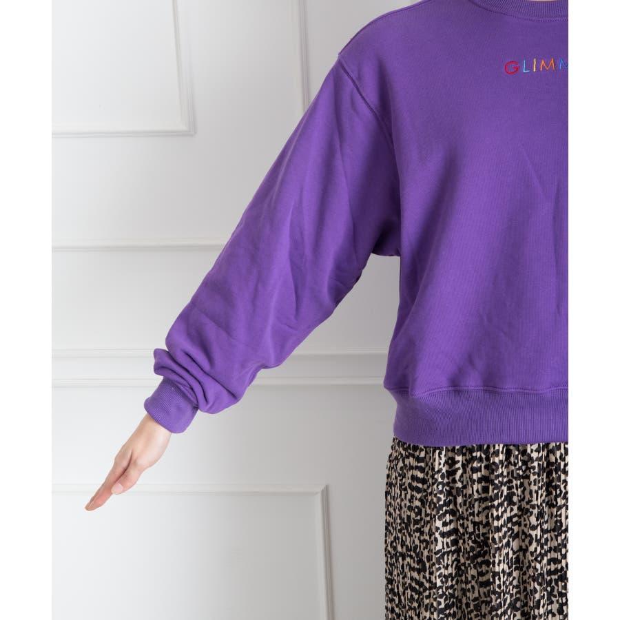 刺繍ロゴボリューム袖プルオーバー 7