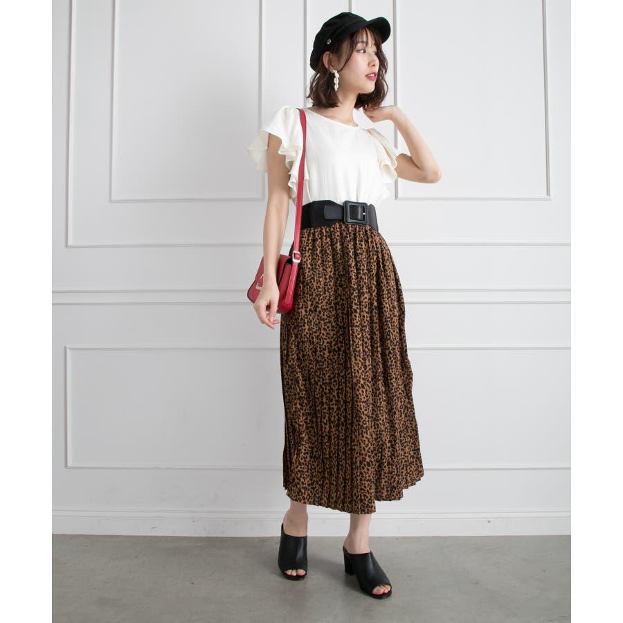 ヒョウ柄プリーツスカート 2