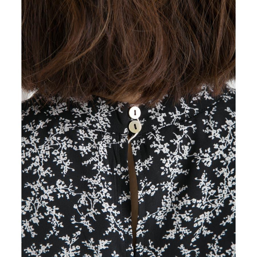 小花柄プチハイネックノースリーブワンピース 4