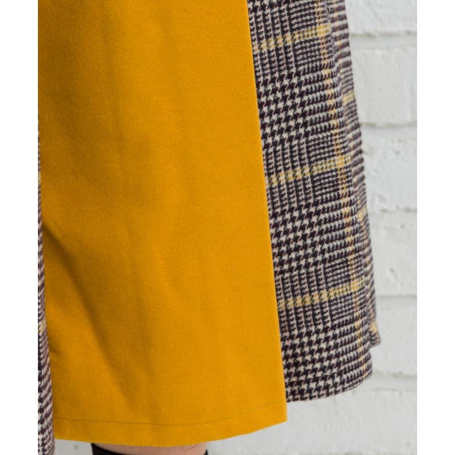 チェックバイカラーベルト付スカート 7