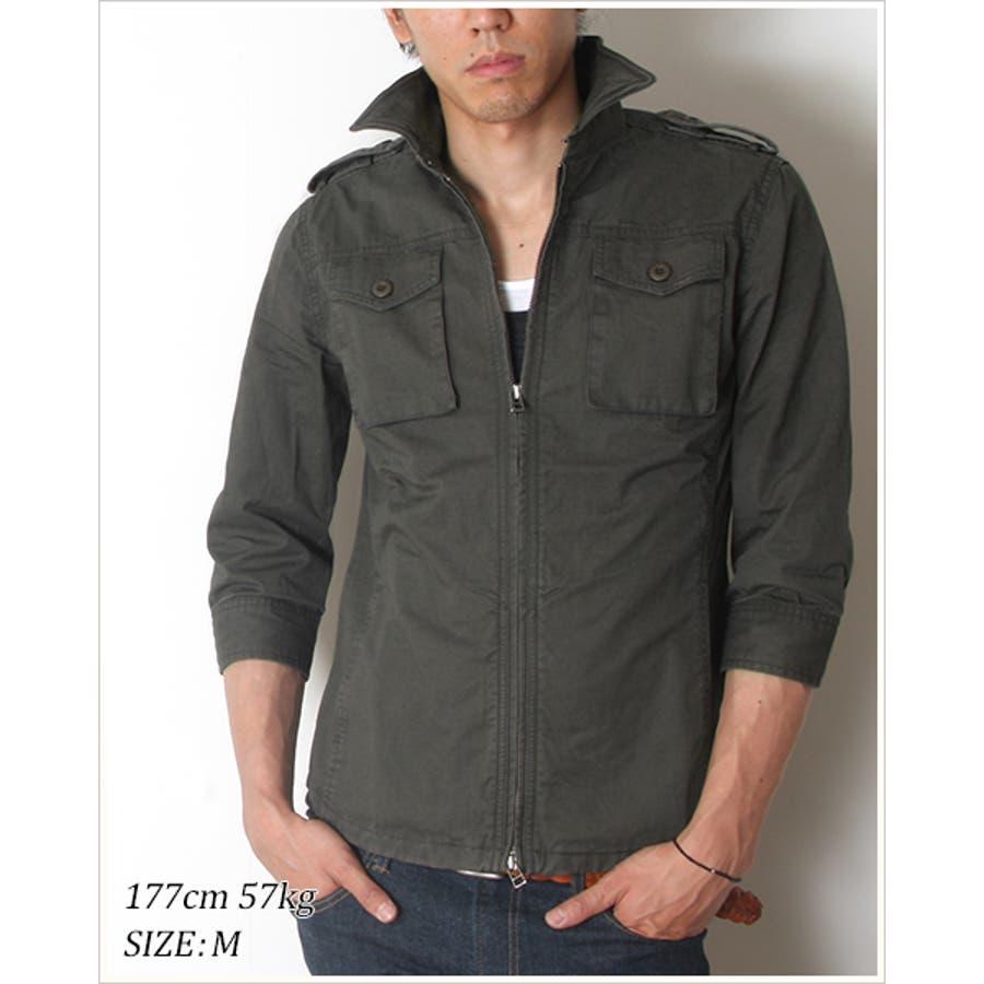 さらっと着れてとてもよい ジャケット メンズ 高密度 硫化 ツイル 7分袖 ミリタリージャケット Audience オーディエンス 男性 メンズミリタリーJKT 嗷嗷