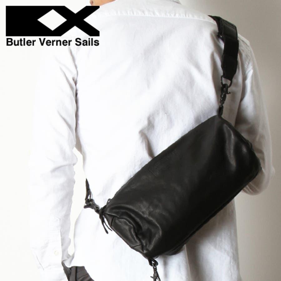【ショルダーバッグ バッグ 鞄】日本製 馬革 本革 レザー ロール ミニショルダーバッグ メンズ レディース ユニセックスButler Verner Sails バトラーバーナーセイルズ 1