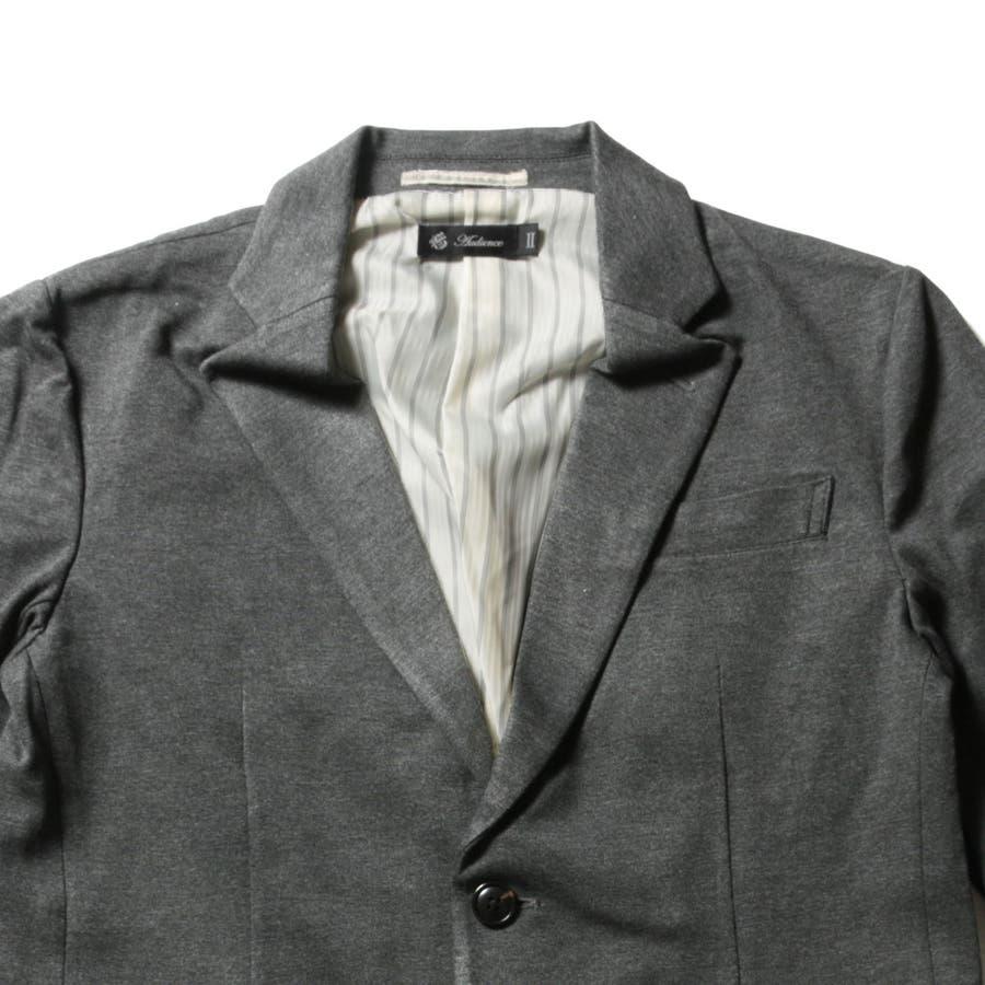 メンズ ジャケット メンズファッション シルケット モック ミラノリブ 2B テーラード ジャケット AUDIECNE オーディエンス 9