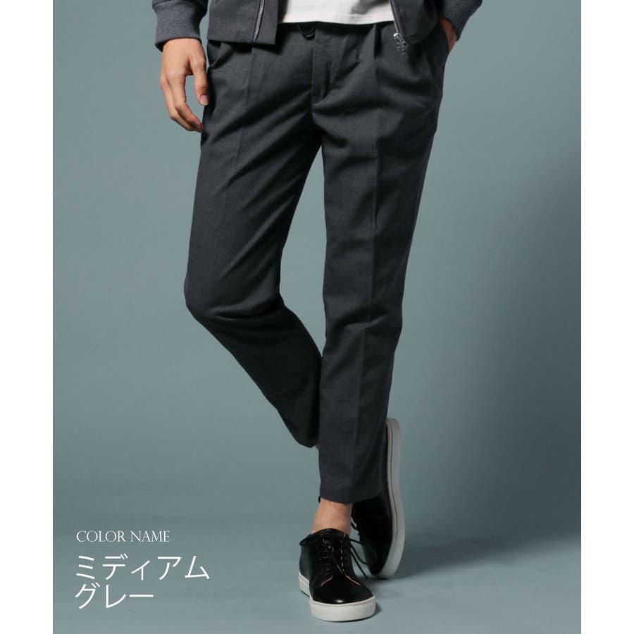 メンズ パンツ メンズファッション 日本製 ギャバジン ストレッチ イージー アンクル パンツ セットアップ UpscapeAudience アップスケープ オーディエンス 4