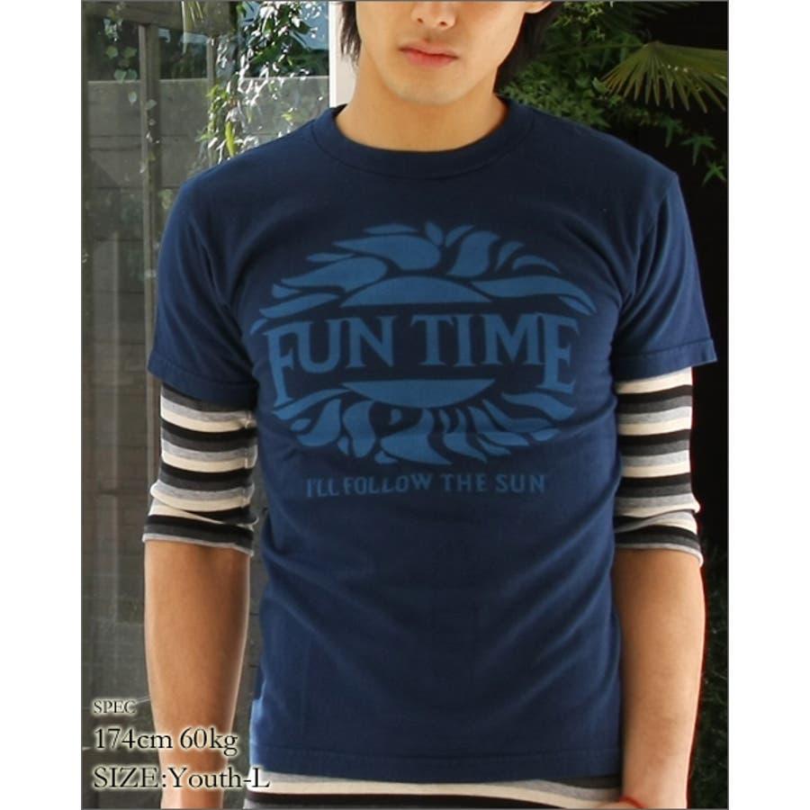 お洒落に着こなせる一枚 メンズファッション通販 プリントTシャツ ユニセックス FUN TIME プリント ユース 半袖 Tシャツ プリントT vanillafudgeヴァニラファッジ 黄金