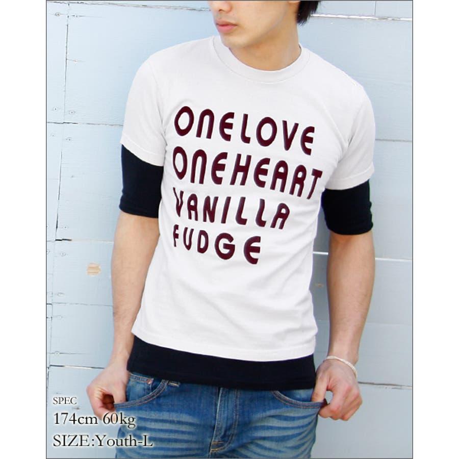 清潔感溢れる プリントTシャツ ユニセックス ONE LOVE プリント ユース 半袖 Tシャツ プリントT vanillafudgeヴァニラファッジ 極熱