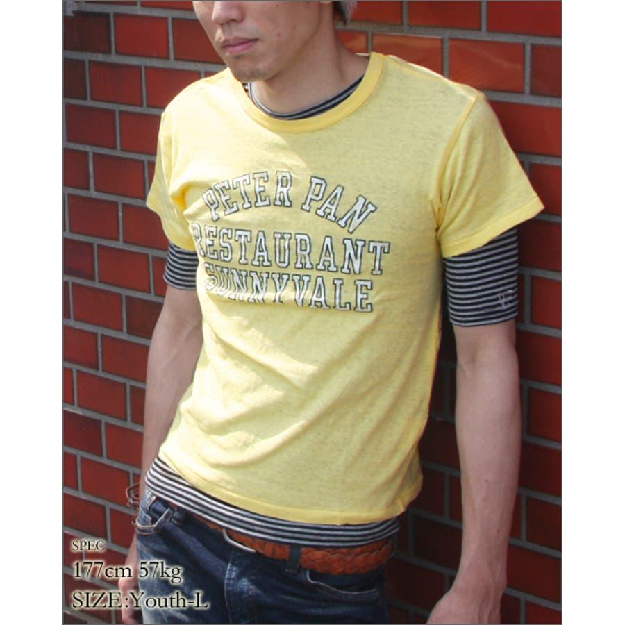 どんなコーデにも合わせやすい メンズファッション通販 プリントTシャツ ユニセックス PETERPAN プリント ユース 半袖 Tシャツ プリントT vanillafudgeヴァニラファッジ メンズ レディース ユニセックス 終局