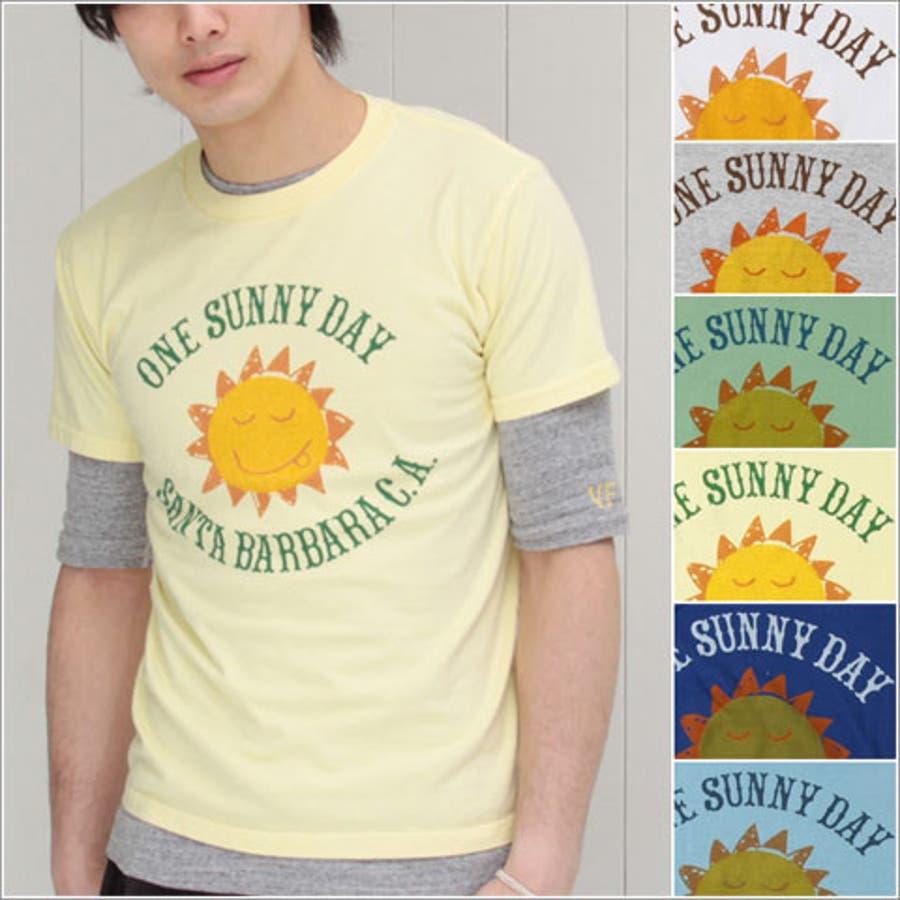 手に入れておきたい メンズファッション通販プリントTシャツ ユニセックス 太陽モチーフの元気なTシャツ! ユース 男性 メンズ vanillafudge ヴァニラファッジ 語彙