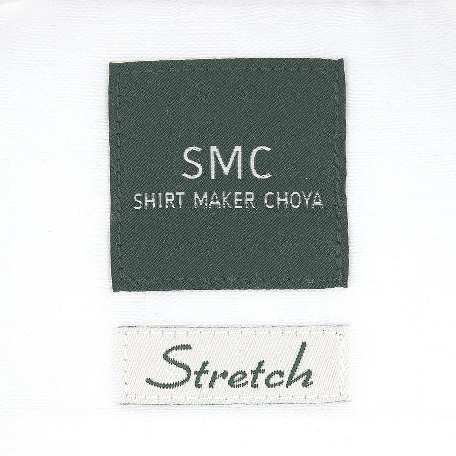 SHIRT MAKER CHOYA Stretch 長袖 ワイシャツ メンズ 春夏秋冬 形態安定加工 ストレッチ 標準体市松模様白ドビー ボタンダウンシャツ|綿:65% ポリエステル:35% ホワイト(cmd931-200) 6