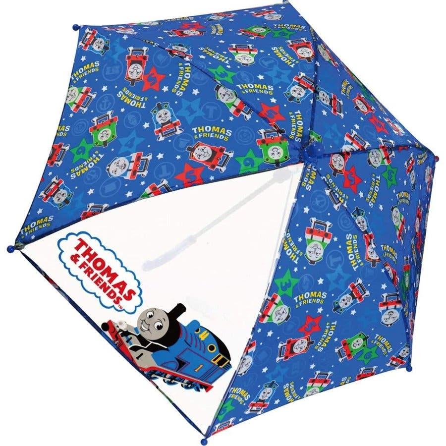 トーマス キッズ傘 キャラクター グッズ 40cm きかんしゃトーマス 雨具 雨 レイングッズ ネイビー ブルー 男の子 子どもかわいい おしゃれ 1