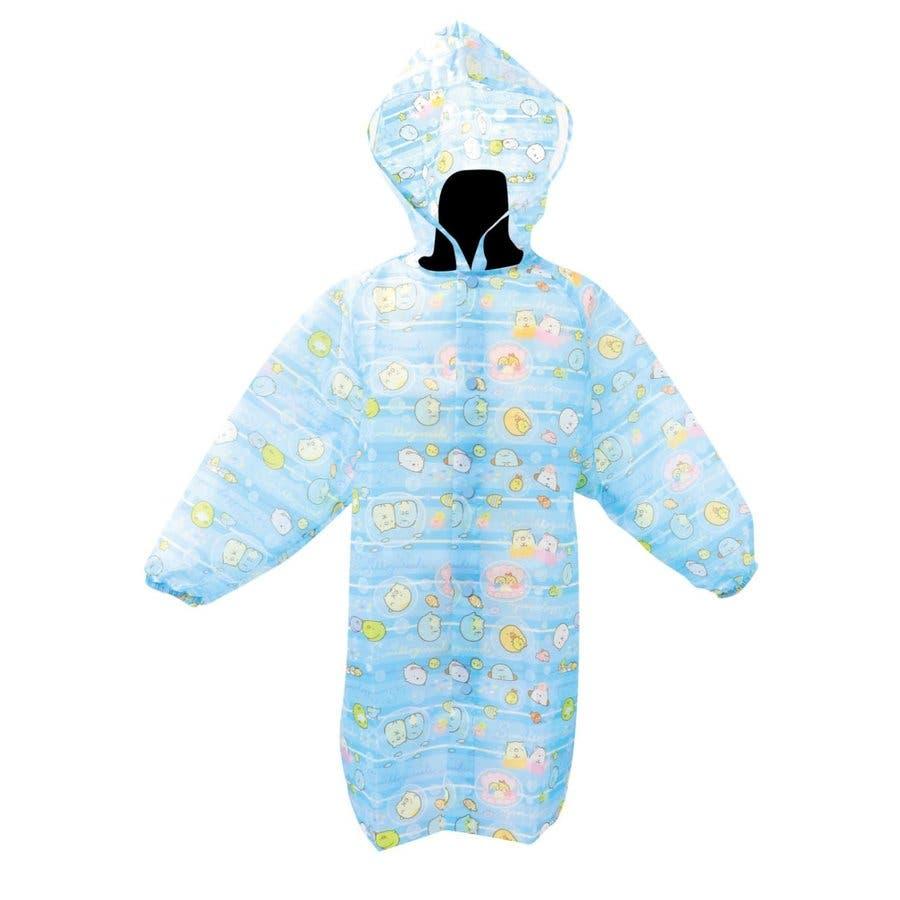 すみっコぐらし レインコート キッズ キャラクター グッズ フード付き 収納袋付き かわいい おしゃれ 雨具 カッパ 子供 女の子通学 入園 入学 ねこ しろくま 1