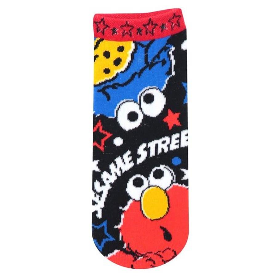 セサミストリート 靴下 キャラクター エルモ クッキーモンスター レディースソックス 星 グッズ 可愛い 大人用 22〜24cmプレゼント ギフト 誕生日 子ども 1