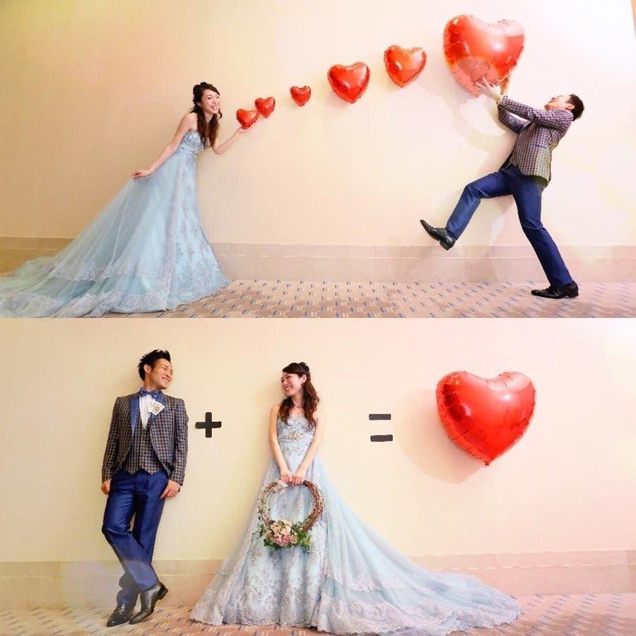 特大 ハート 風船 バルーン 前撮り ウェディング ウエディング 結婚式 花嫁 プロポーズ 誕生日 サプライズ 大きい ハート 3