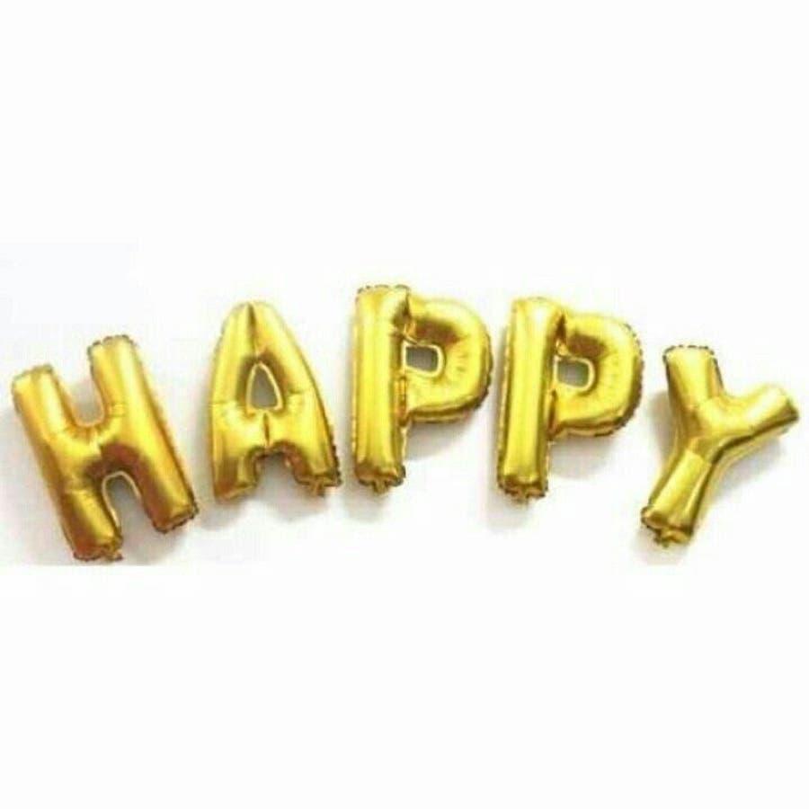 バルーン 誕生日 結婚式 ジャンボバルーン サプライズ 飾りつけ HAPPY 特大風船 3