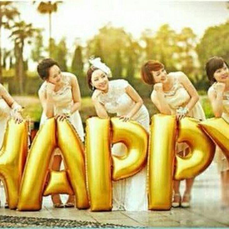 バルーン 誕生日 結婚式 ジャンボバルーン サプライズ 飾りつけ HAPPY 特大風船 4