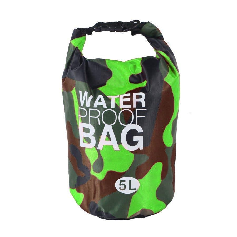 防水バッグ 迷彩柄 ドライバッグ 5L おしゃれ 多機能 防災バッグ ショルダー 肩掛け 海 川 海水浴 アウトドア プールジムバッグ 10