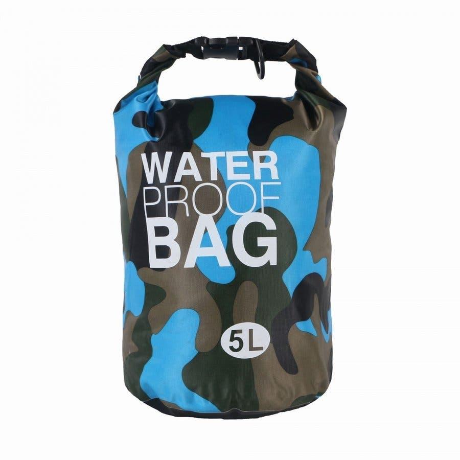 防水バッグ 迷彩柄 ドライバッグ 5L おしゃれ 多機能 防災バッグ ショルダー 肩掛け 海 川 海水浴 アウトドア プールジムバッグ 9