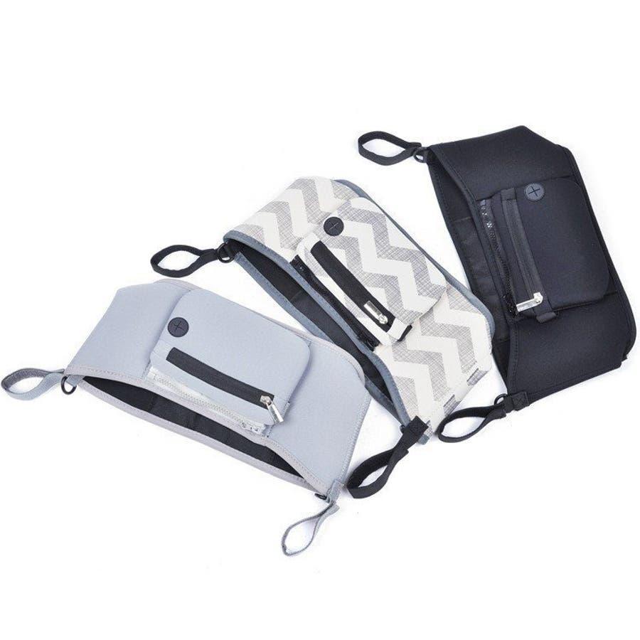 ベビーカー バッグ 使いやすい 小物入れ ドリンクホルダー マザーズバッグ 収納バッグ 取り付け シンプル おしゃれ 便利 コンパクト多機能 5