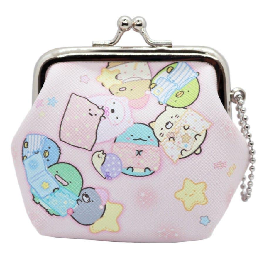 すみっコぐらし グッズ 財布 がま口 キャラクター 小物入れ おとまり会 ピンク 可愛い 小銭入れ 映画 しろくま ねこ とかげぺんぎん? 映画 アニメ 本 1