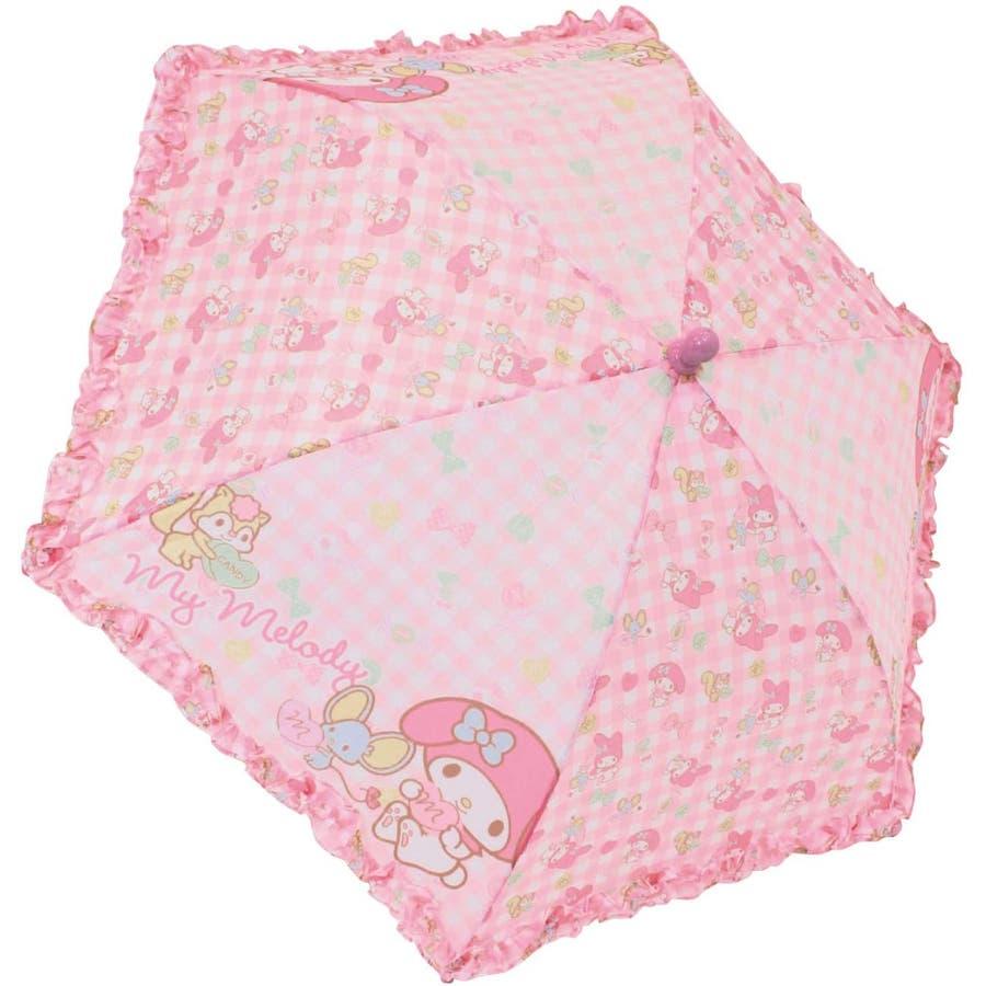 マイメロディ 40cm 長傘 サンリオ ピンク キッズ傘 キャラクター グッズ 雨具 雨 レイングッズ 女の子 子ども かわいいおしゃれ 1