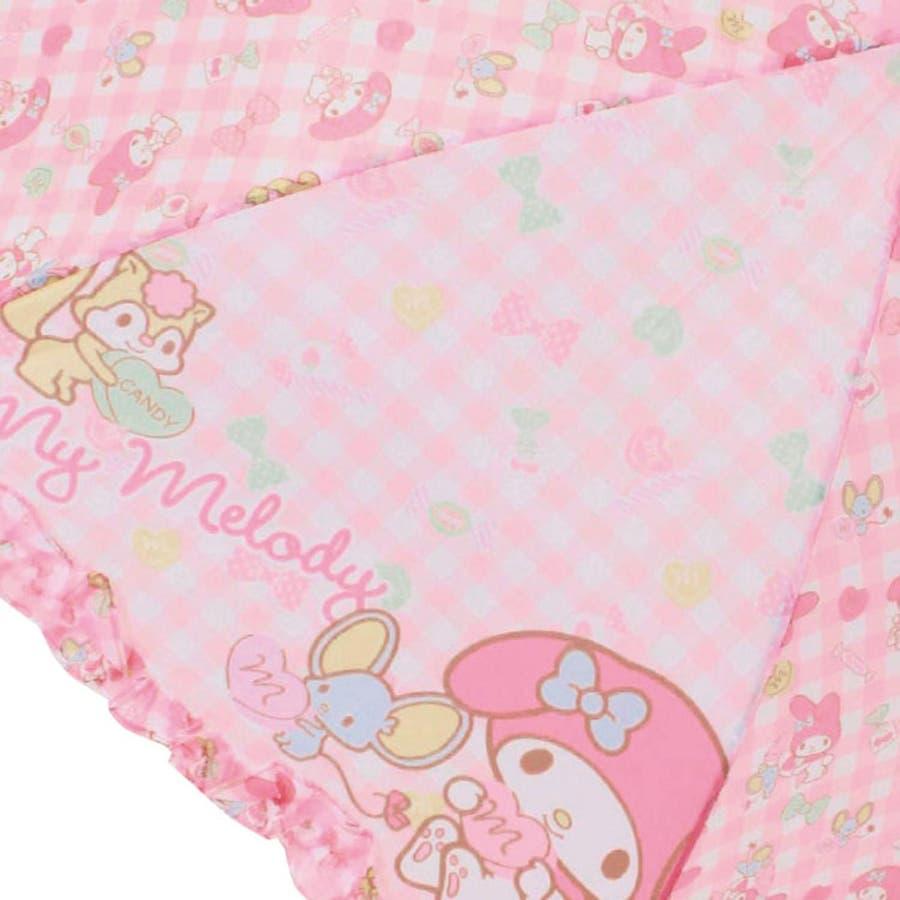 マイメロディ 40cm 長傘 サンリオ ピンク キッズ傘 キャラクター グッズ 雨具 雨 レイングッズ 女の子 子ども かわいいおしゃれ 3