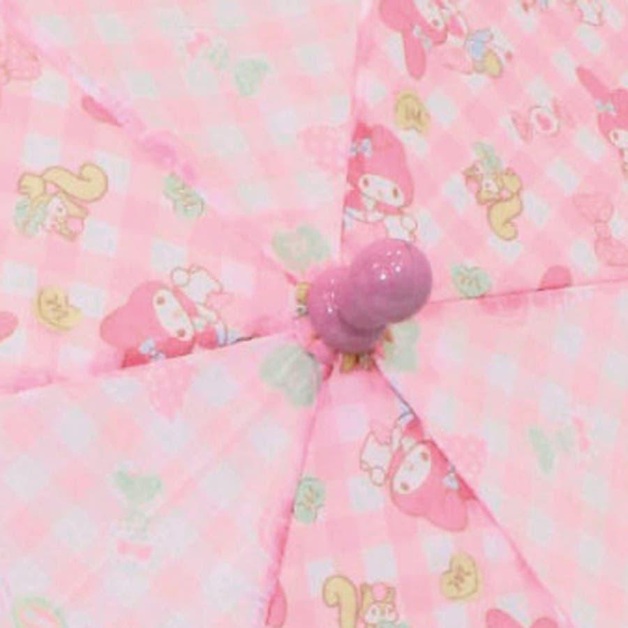 マイメロディ 40cm 長傘 サンリオ ピンク キッズ傘 キャラクター グッズ 雨具 雨 レイングッズ 女の子 子ども かわいいおしゃれ 4