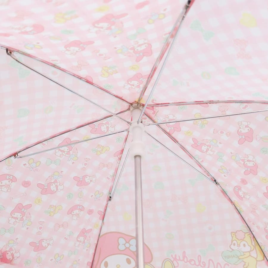 マイメロディ 40cm 長傘 サンリオ ピンク キッズ傘 キャラクター グッズ 雨具 雨 レイングッズ 女の子 子ども かわいいおしゃれ 6