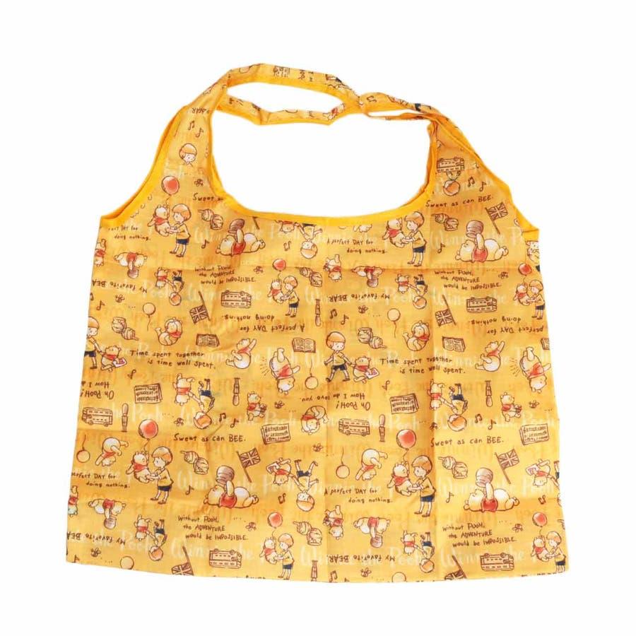 プー エコバッグ ディズニー ハニー おしゃれ 折り畳み キャラクター 収納 ミニバッグ 可愛い 買い物バッグ クラシック お出かけコンビニ ショッピング 4