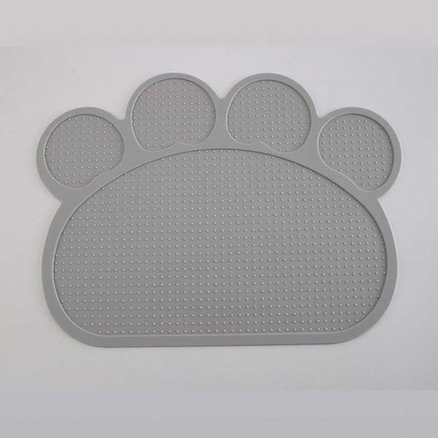ランチョンマット マット ペット 滑らない マット ペット用食器 犬 猫 滑り止め 洗える エサ皿 お食事マット シリコン ペット用品ネコ 肉球型 可愛い 5