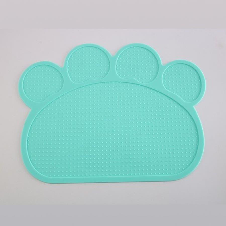 ランチョンマット マット ペット 滑らない マット ペット用食器 犬 猫 滑り止め 洗える エサ皿 お食事マット シリコン ペット用品ネコ 肉球型 可愛い 7