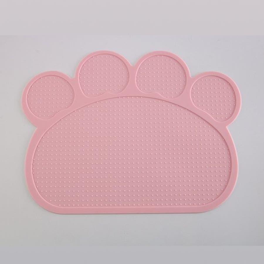ランチョンマット マット ペット 滑らない マット ペット用食器 犬 猫 滑り止め 洗える エサ皿 お食事マット シリコン ペット用品ネコ 肉球型 可愛い 8
