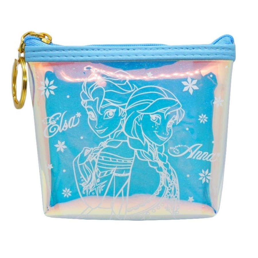 アナ&エルサ ディズニー 舟形 コインケース オーロラ ブルー 財布 ディズニーグッズ ミニポーチ 小銭入れ アナと雪の女王小物入れ グッズ プレゼント 1