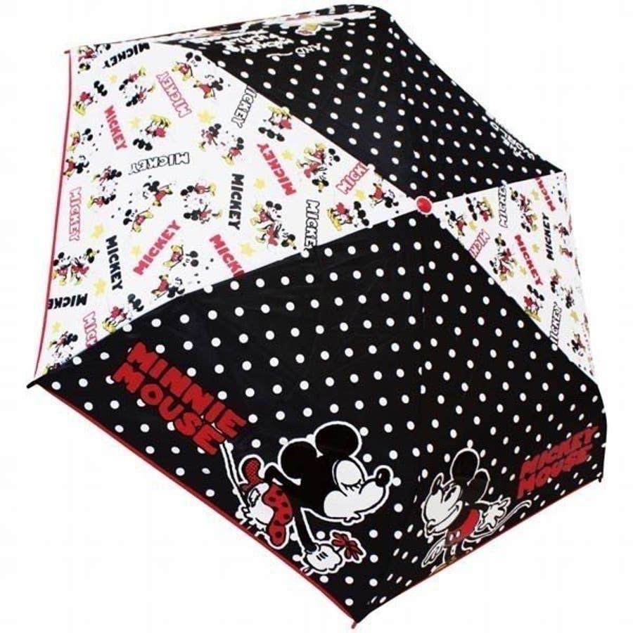 ミッキー&ミニー ディズニー 折り畳み傘 グッズ KISS キャラクター 新商品 子ども 男の子 女の子 カサ かさプレゼント かわいい クリスマス ギフト 2