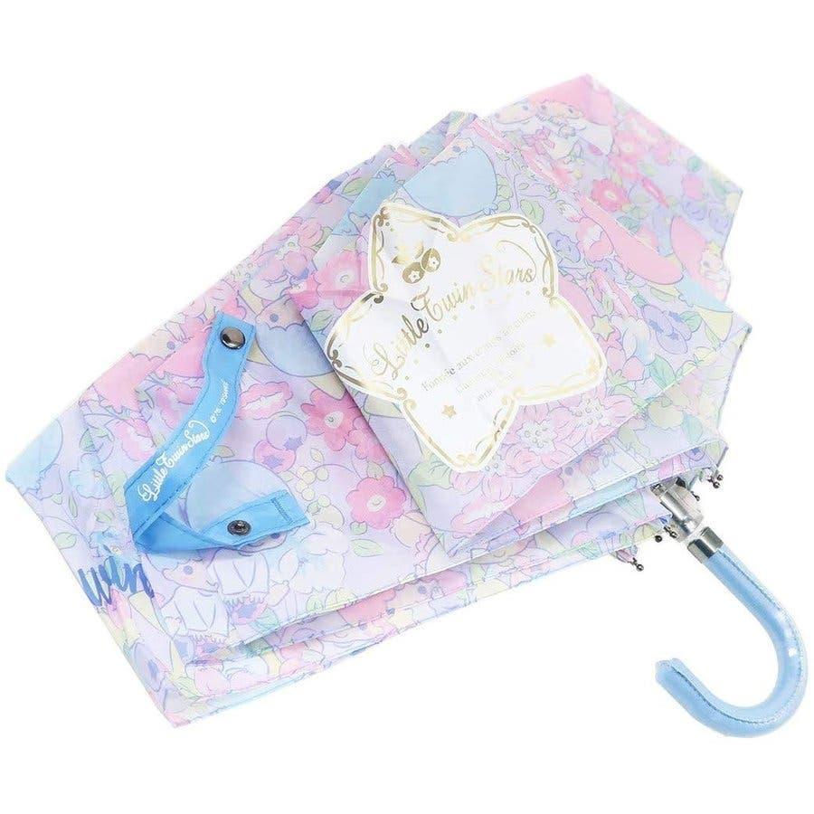 リトルツインスターズ キキララ 折りたたみ傘 フラワー&フルーツ サンリオ 折り畳み傘 グッズ 新商品 子ども 女の子 カサ かさプレゼント かわいい 雑貨 雨 2